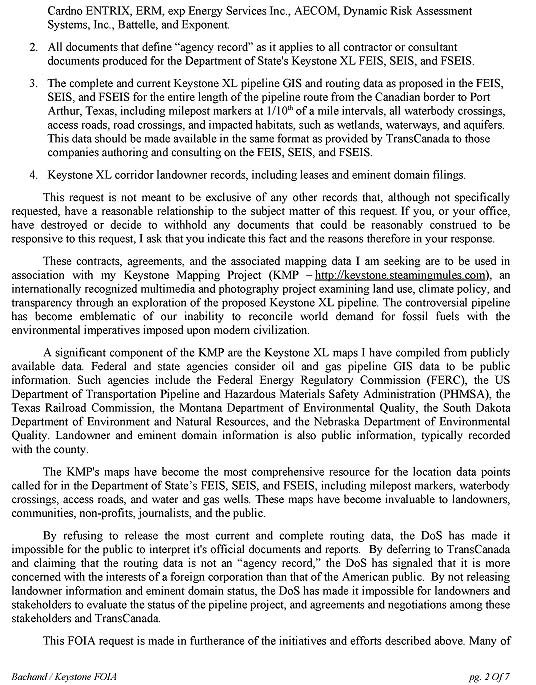 Department of State FOIA Request F~2014-16267, page 2