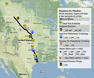 Keystone XL Complete Google Map