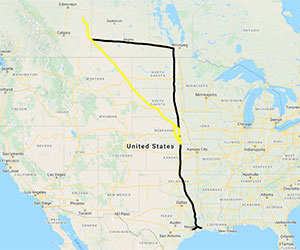 Keystone XL Google Map View