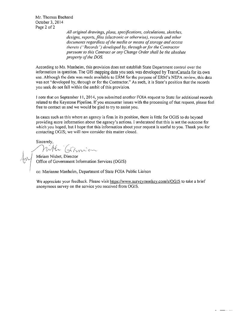 KMP OGIS letter, page 2