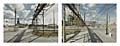 South 8th Street.  Port Arthur, Texas.  180° Diptych.  Keystone XL Pipeline terminus.  Google Street View 2013.